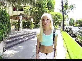 Hot Youthfull Petite Blonde Nubile Fucked By Stranger For Cash Point Of View