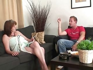Old Big-boobed Mommy-in-law Rails His Cheating Trouser Snake