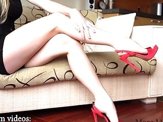 Foot Worship Model Shows Her Lengthy Gams And Sexy Feet