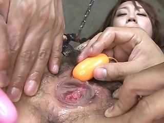 Oriental Damsel Gets Massagers In Muff And Big One On Clitoris