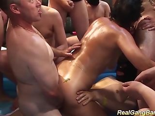 Horny German Grandmas First-ever Extreme Oiled Gang-bang Swapper Fuck Soiree Orgy