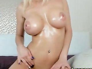 Horny Russian Blonde Stepsister On Webcam