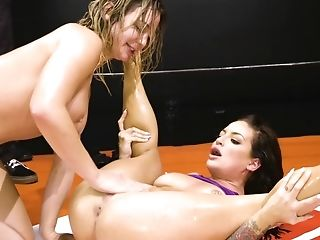 Two Bad Arse Women Blair Williams And Kissa Sins Fuck In The Ring