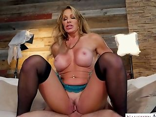 Lewd Cougar Farrah Dahl Permits Son-in-law's Fellow To Penetrate Her Deep Hatch And Raw Cunny