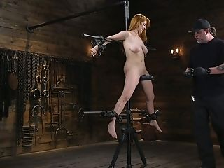 Crimson Haired Juggy Pornography Model Penny Pax Gets Penalized In The Bondage & Discipline Room
