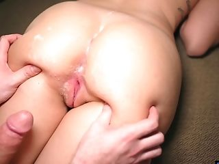 Gonzo Rear End Style Pounding And A Money-shot On Culo Of Stella Raee